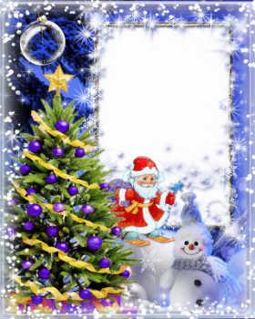 Tarjetas y marcos de Año Nuevo con su foto gratis